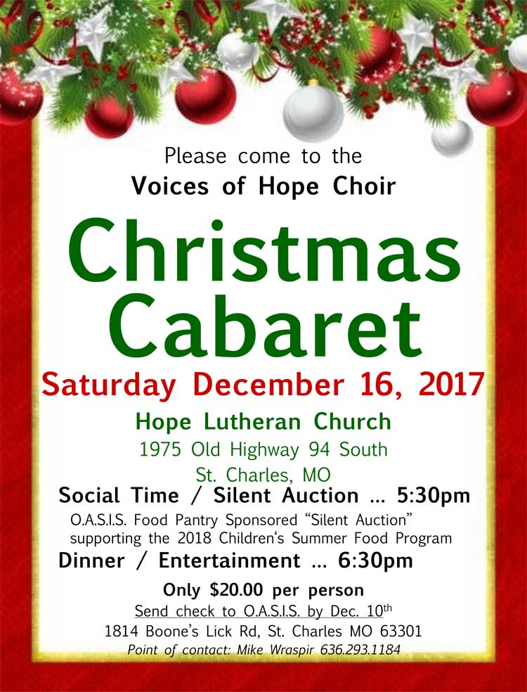 Hope Lutheran's Annual Holiday Cabaret