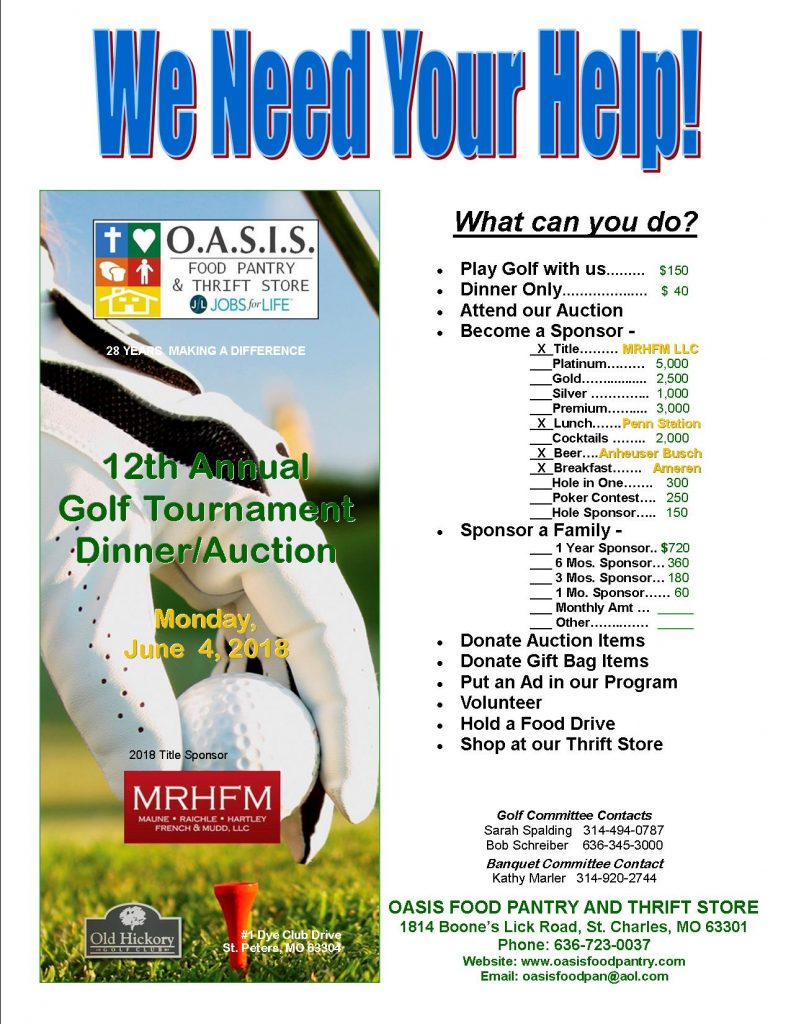 OASIS Golf Tournament Dinner/Auction